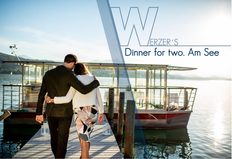 Dinner for two. Am See | in der Werzer's Sunset Suite mit Fondue zu zweit am Glasboot | Frühstück am Zimmer uvm. | ab € 350 pro Person für 2 Nächte